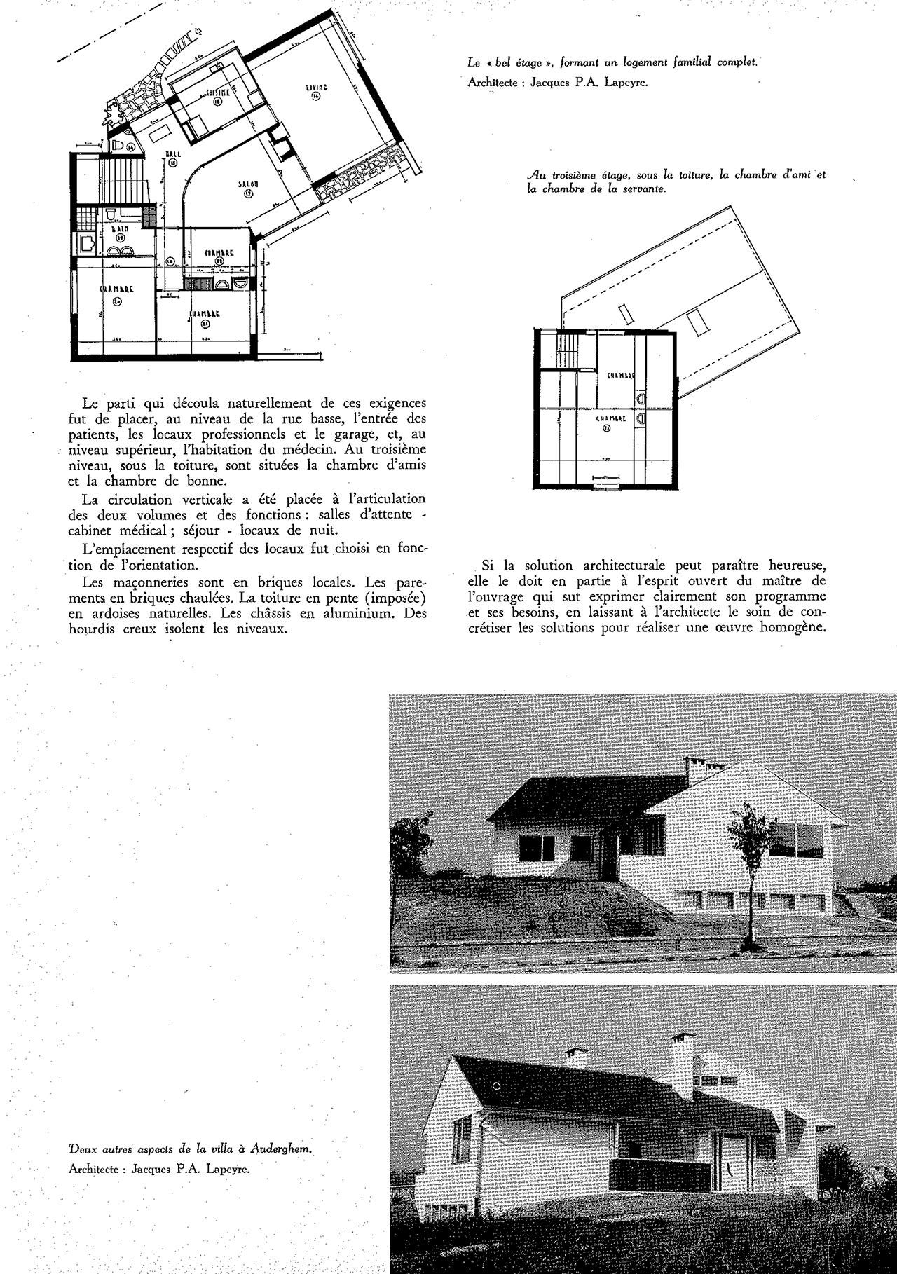 Habitation pour médecin à Ouderghem