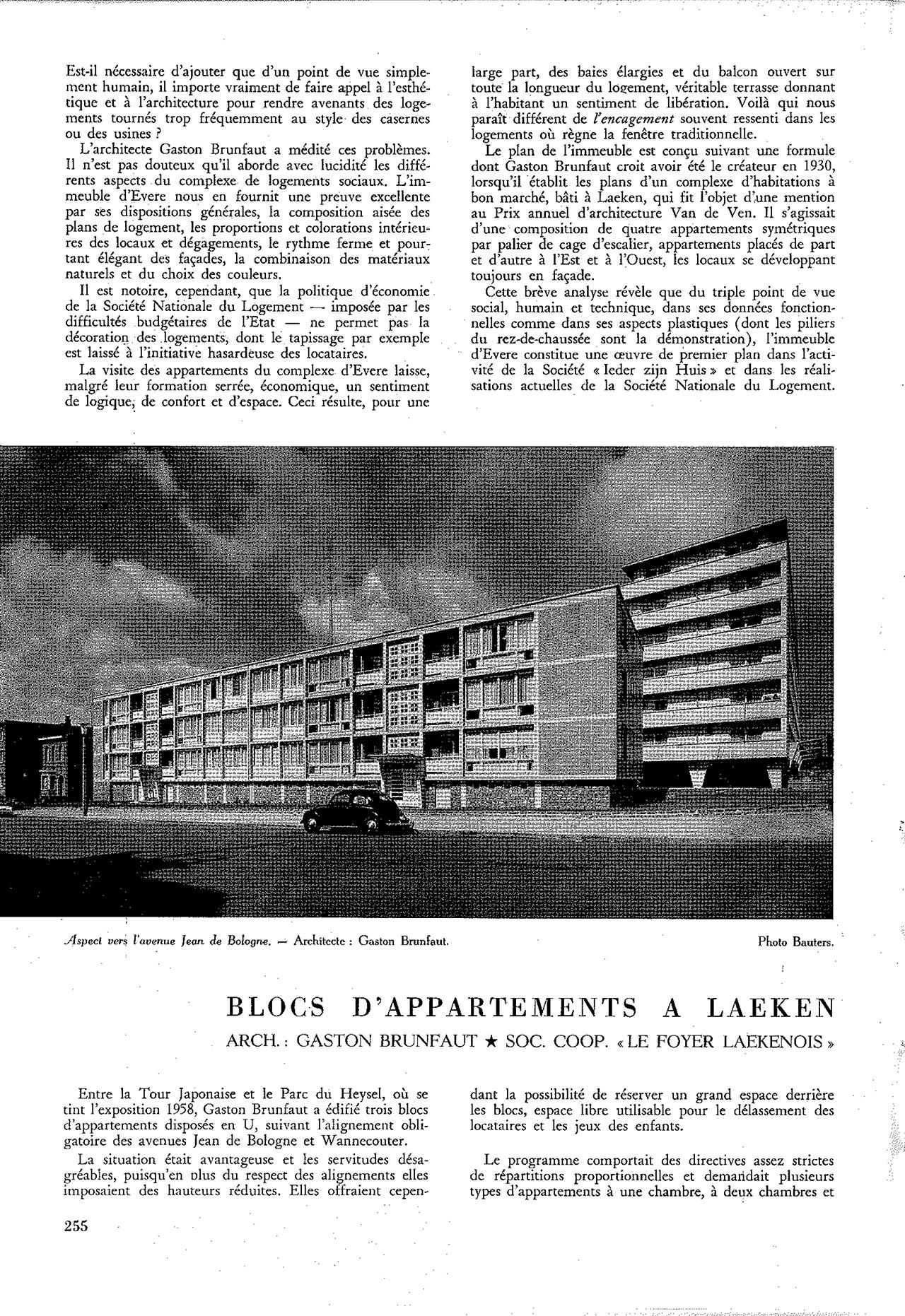 Blocs d'appartements à Laeken