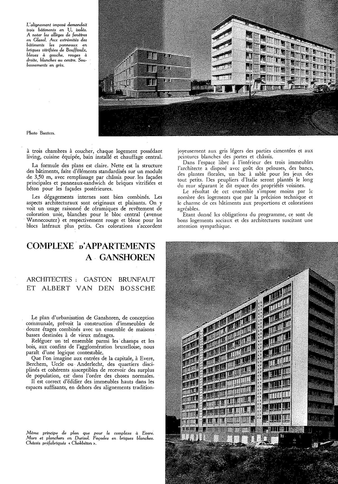 Complexe d'appartements à Ganshoren