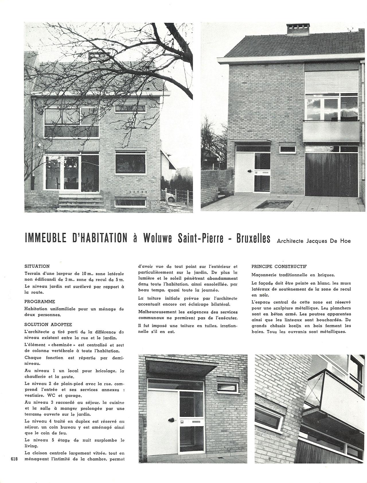 Immeuble d'habitation à Woluwe Saint-Pierre – Bruxelles