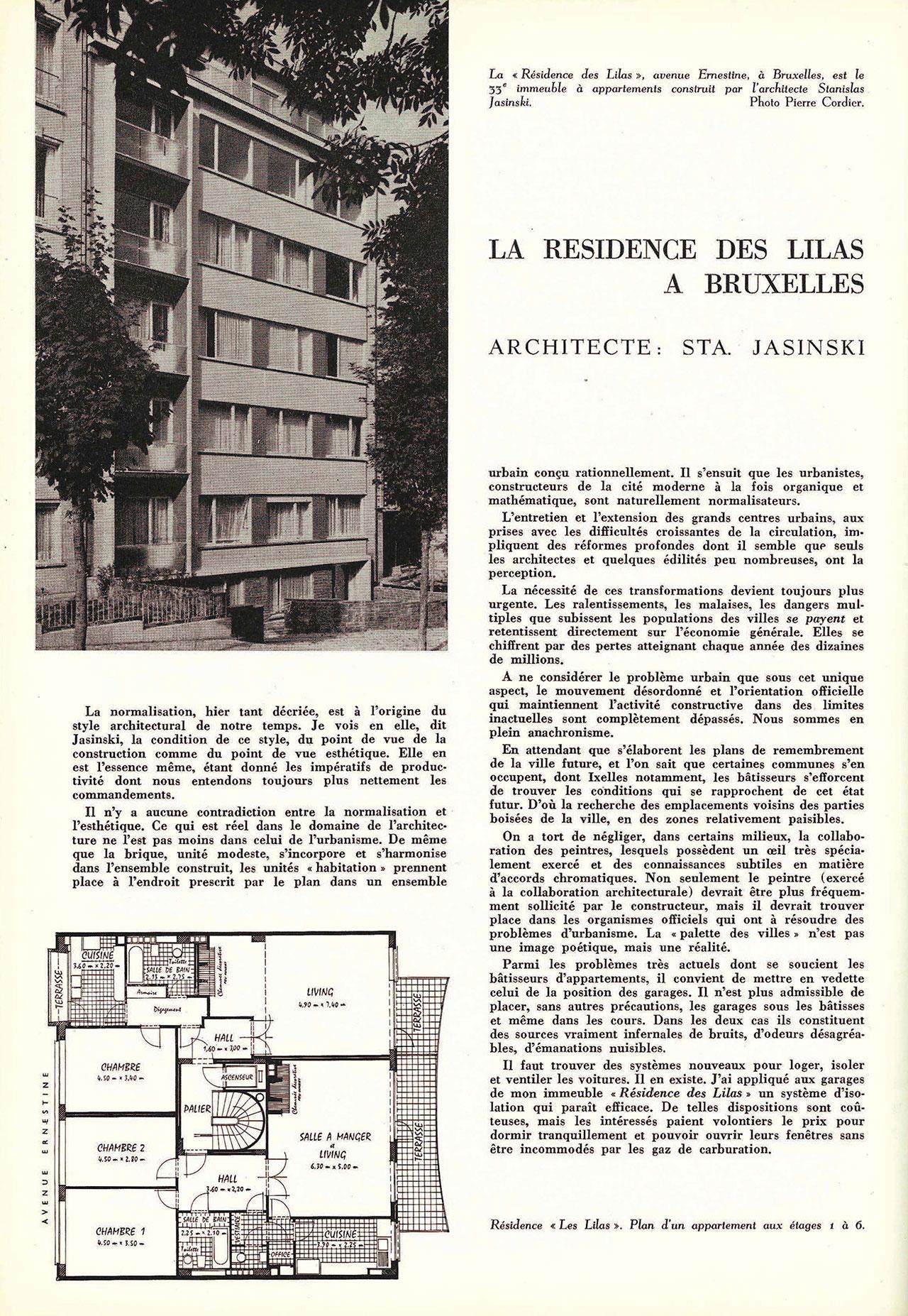 La résidence des lilas à Bruxelles