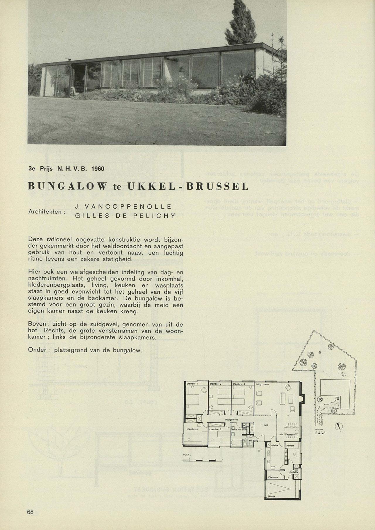 Bungalow te Ukkel-Brussel