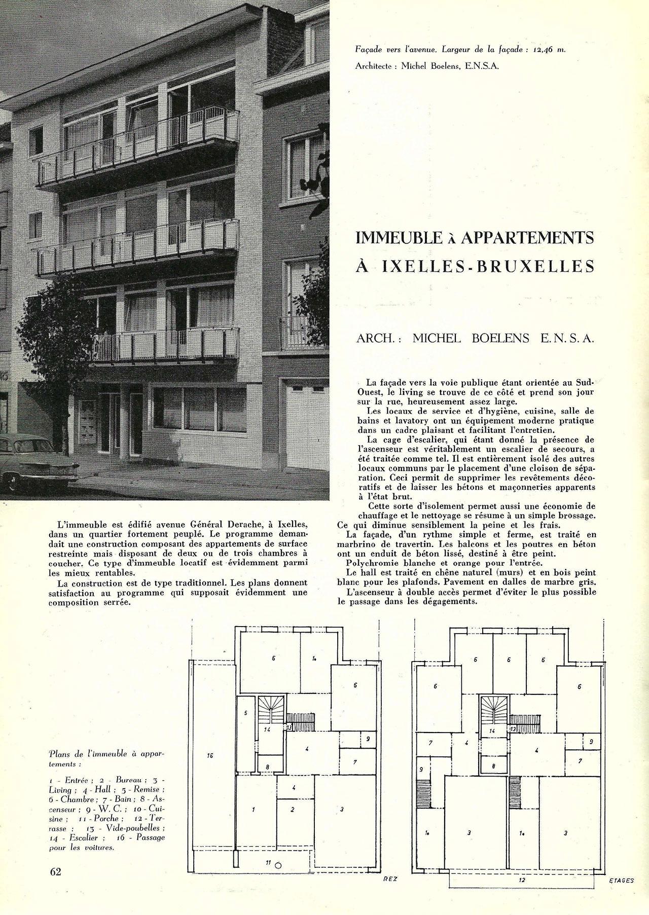 Immeuble à appartements à Ixelles-Bruxelles