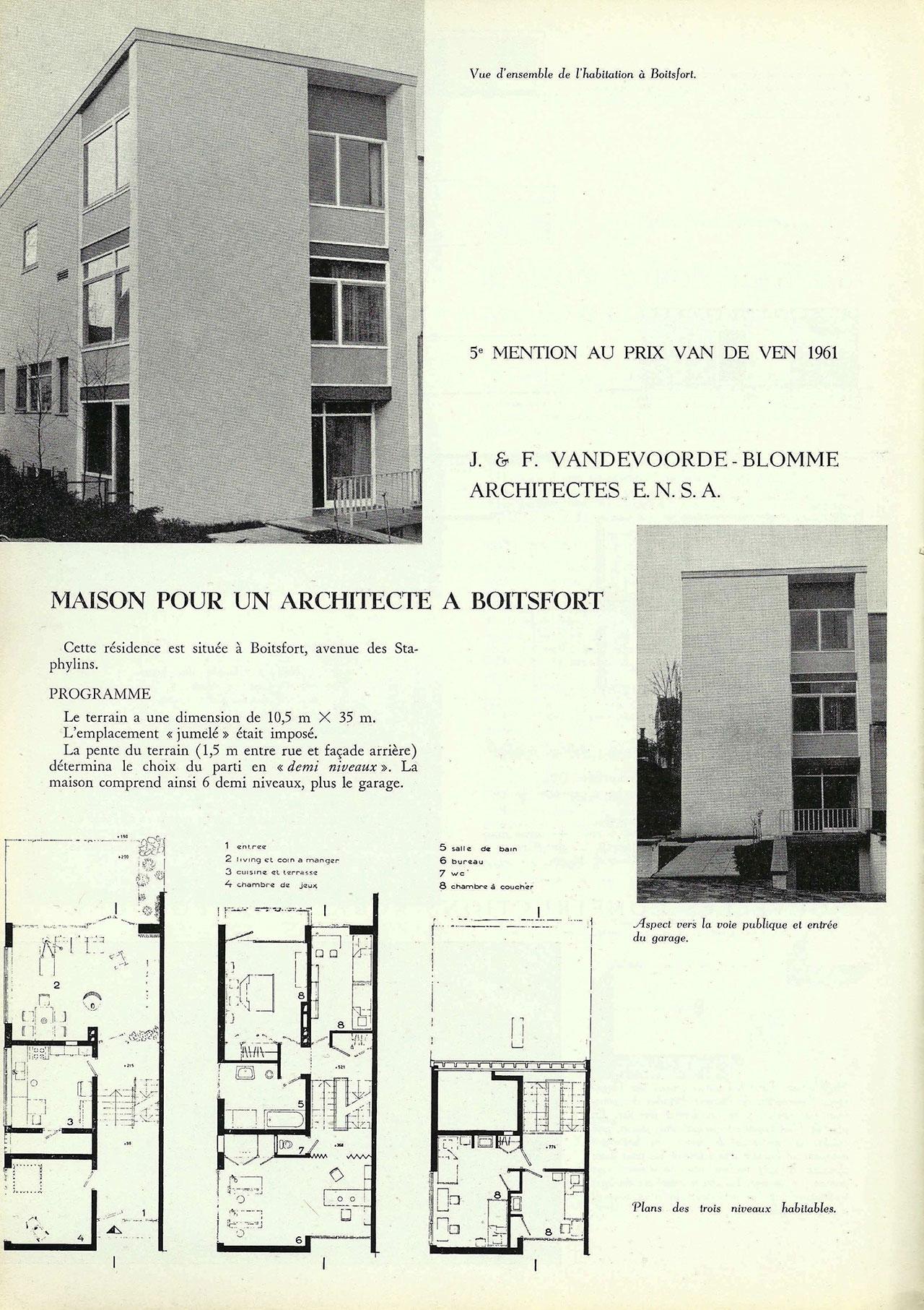 Maison pour un architecte à Boitsfort