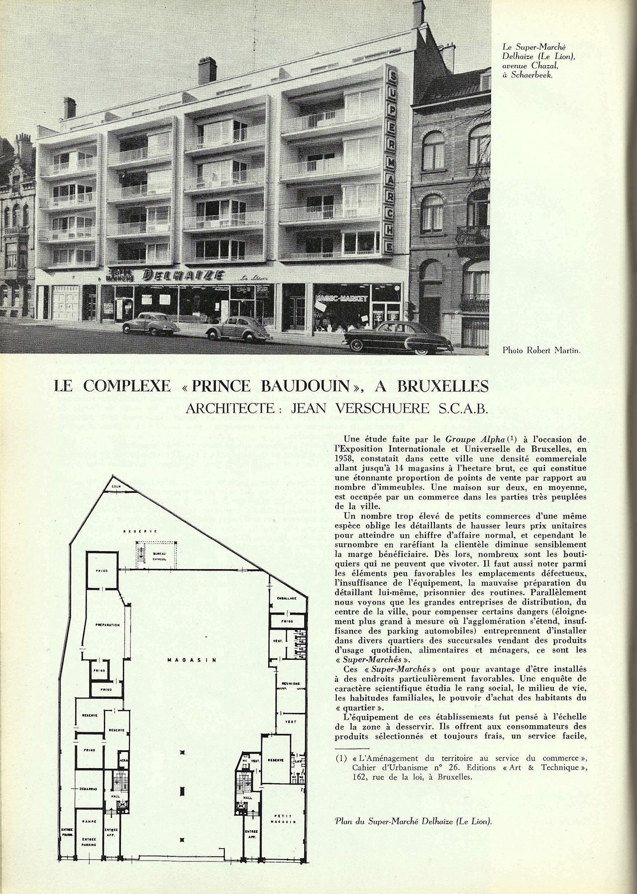 Le complexe « Prince Baudouin » à Bruxelles