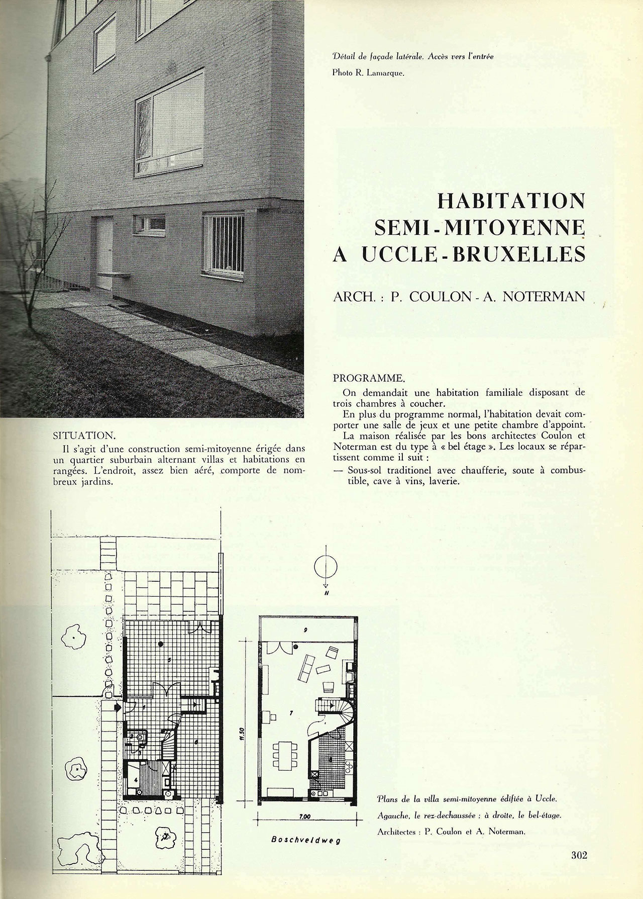 Habitation semi-mitoyenne à Uccle-Bruxelles