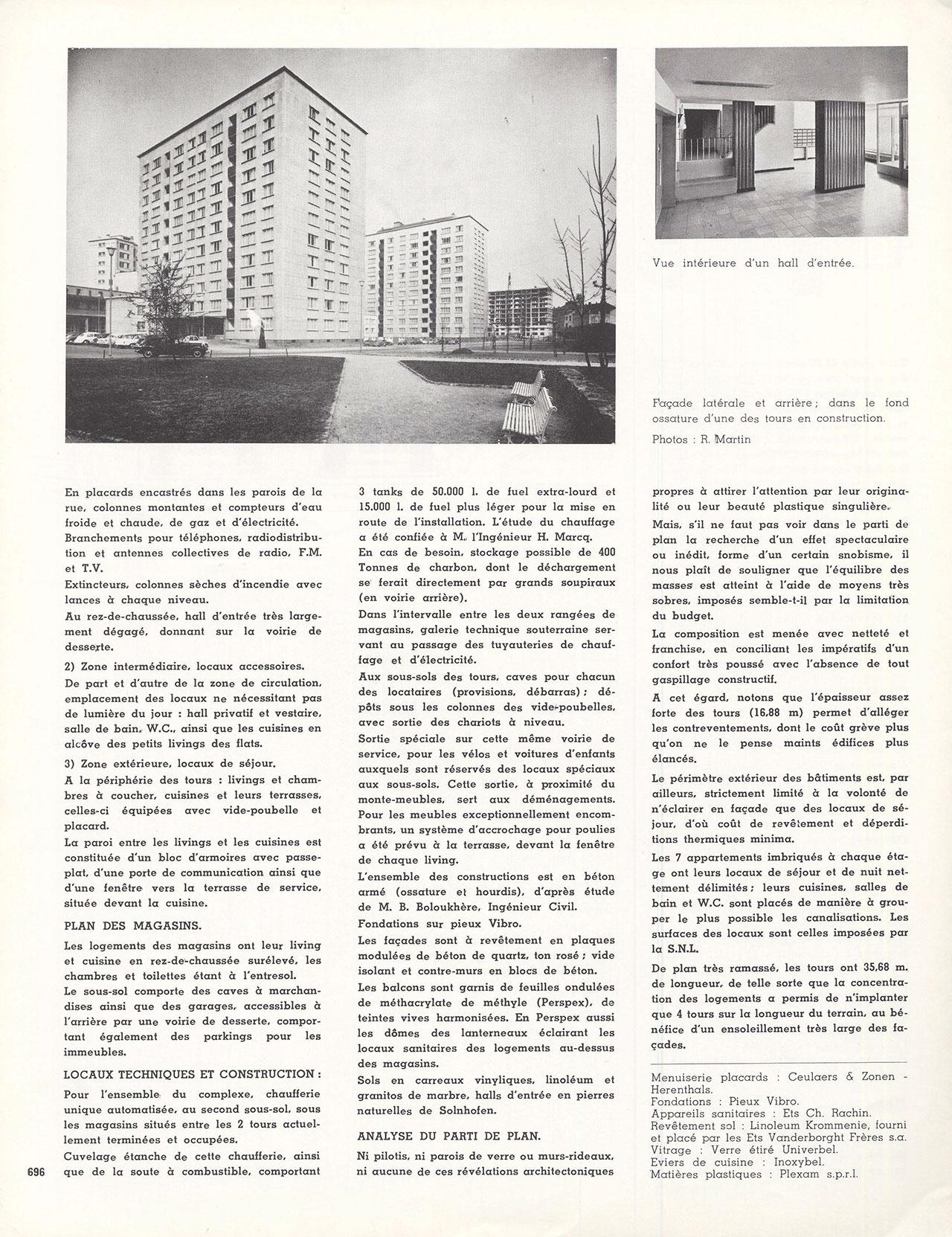 "Complexe d'habitations sociales ""Albert 1er"" à Anderlecht-Bruxelles"