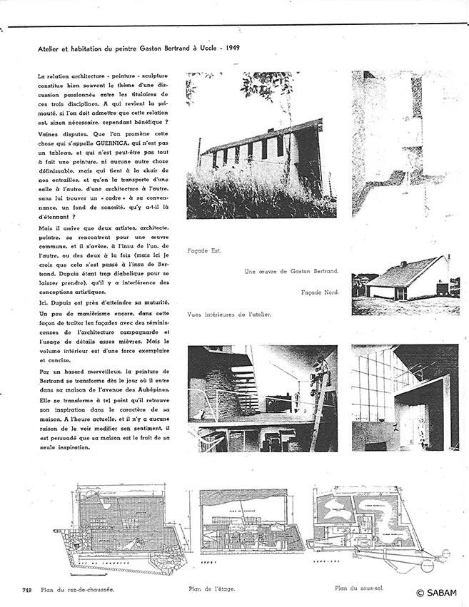 Atelier et habitation du peintre Gaston Bertrand à Uccle