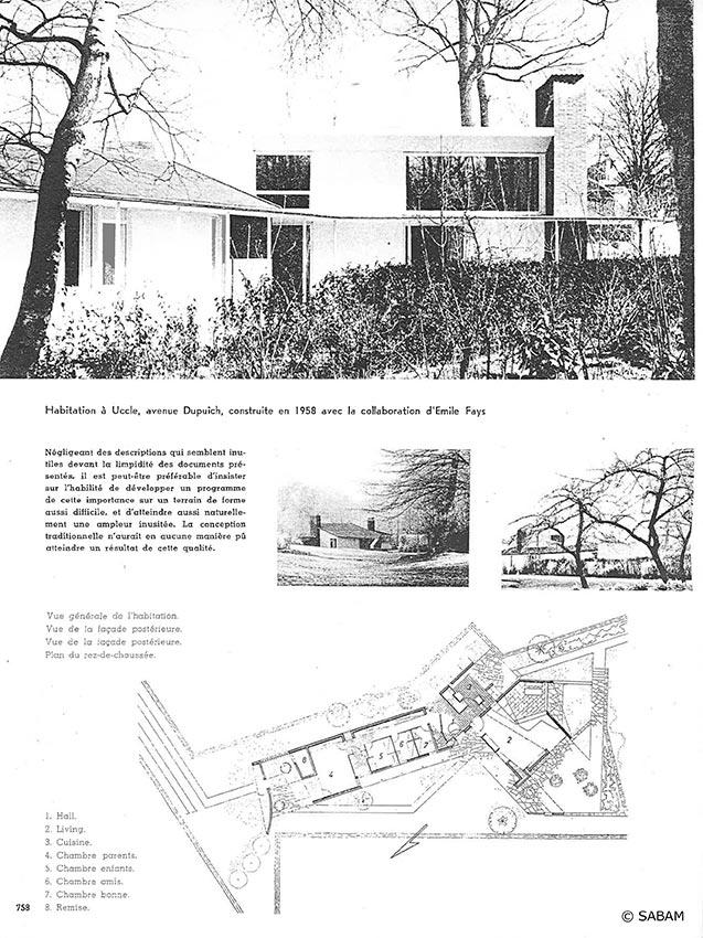 Habitation à Uccle, avenue Dupuich