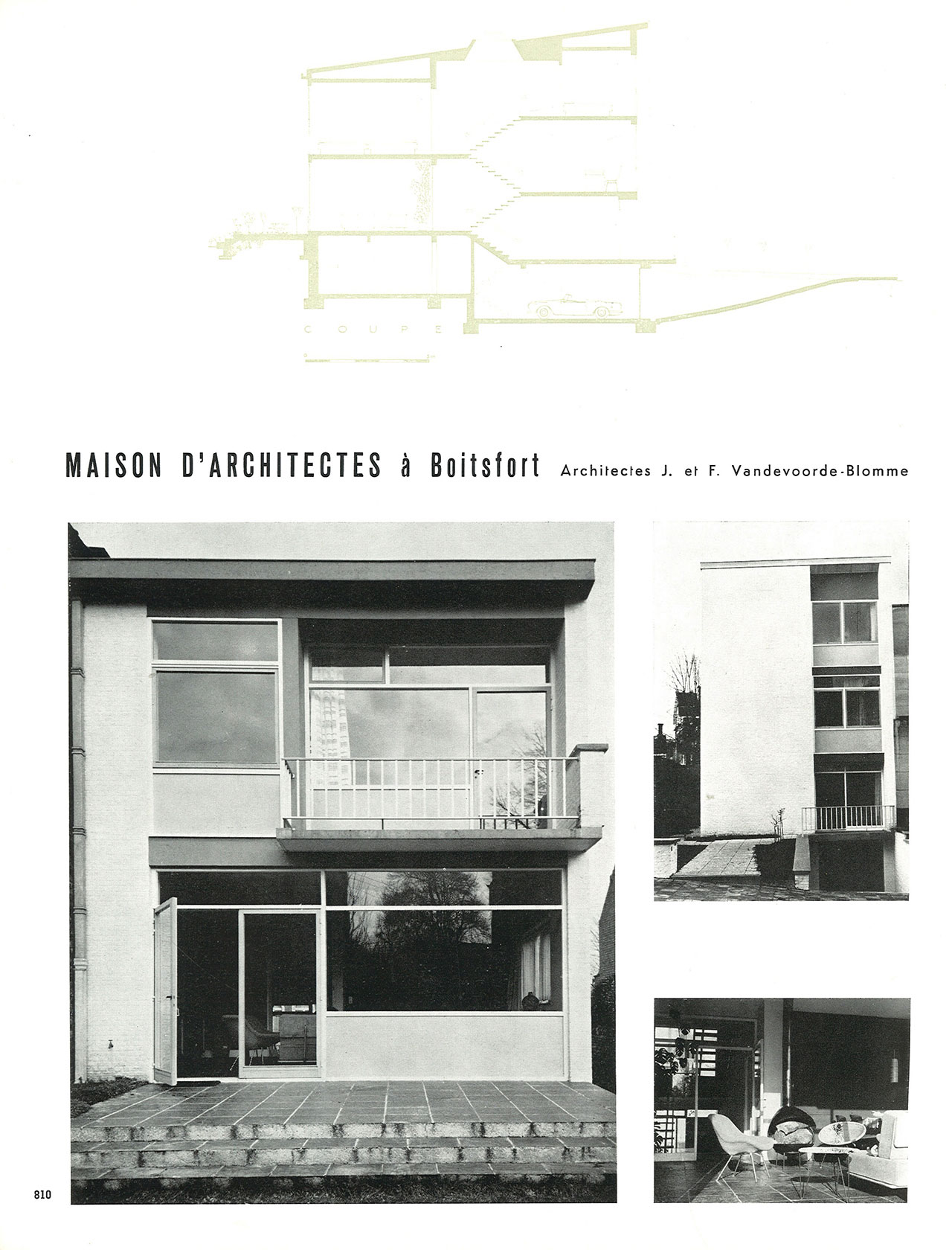 Maison d'architectes à Boitsfort