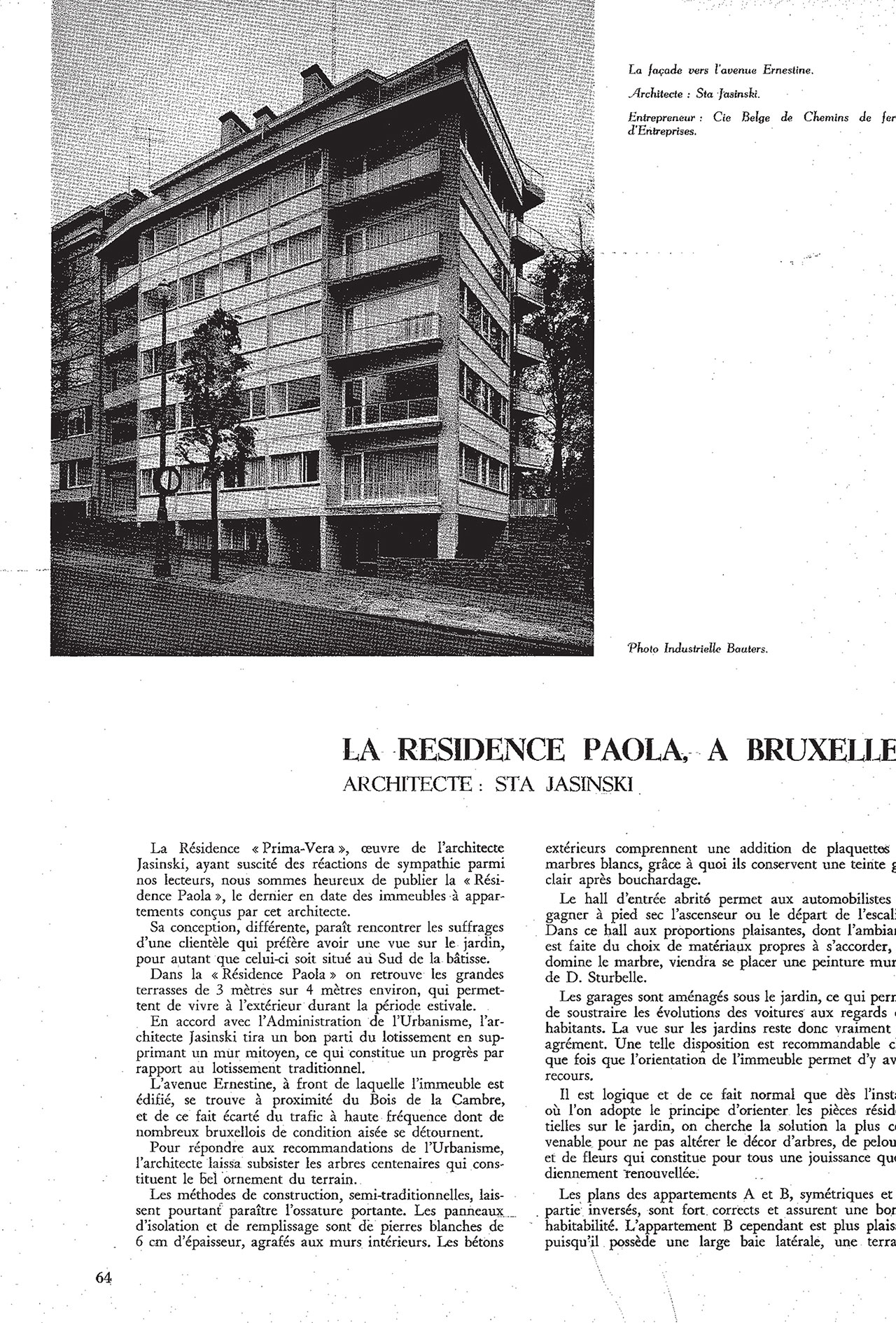 La Résidence Paola, à Bruxelles
