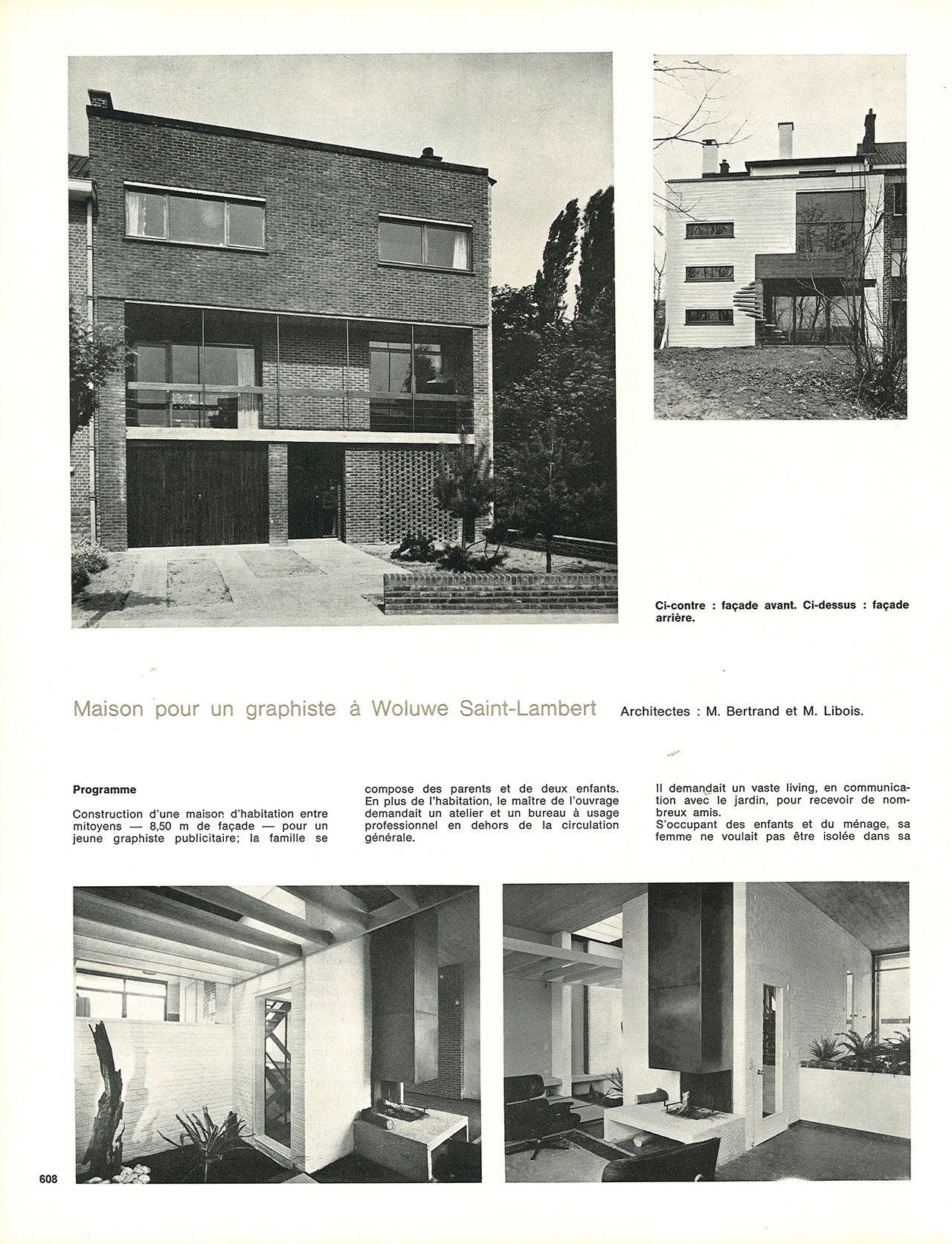 Maison pour un graphiste woluwe saint lambert for Adresse maison communale woluwe saint lambert