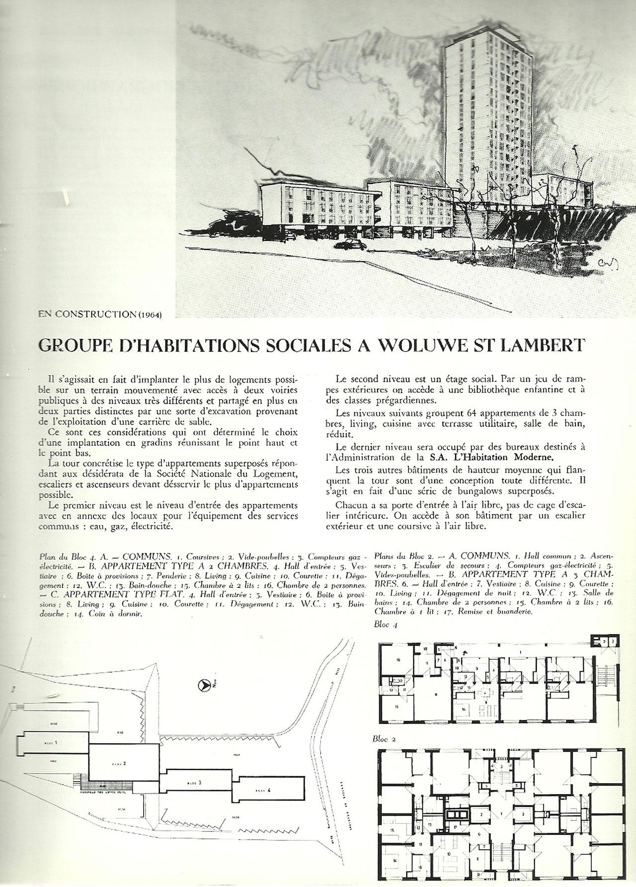 Groupe d\'habitations sociales à Woluwe St Lambert